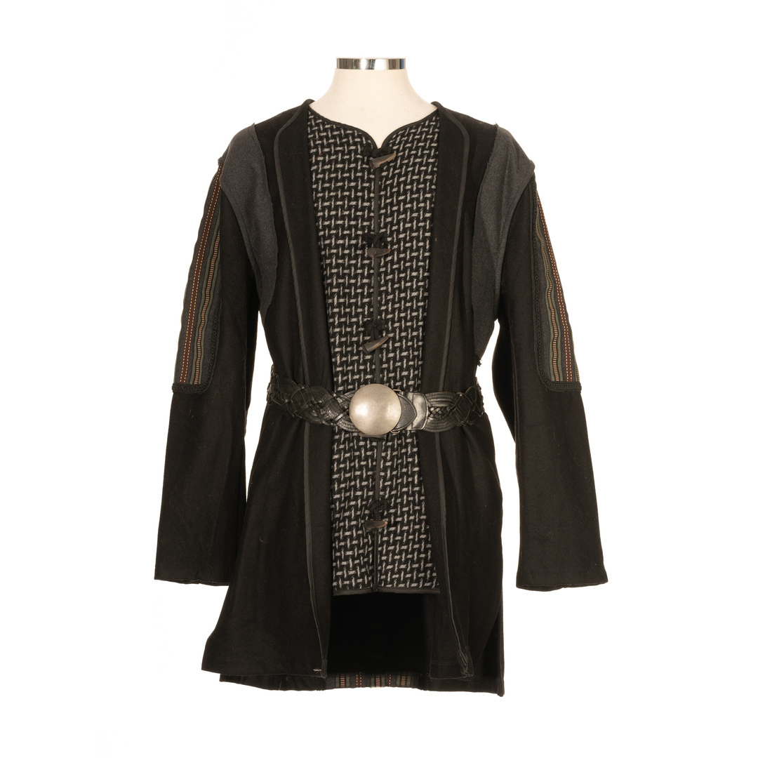 LARP Tunic/Coat Ornate layered - Black