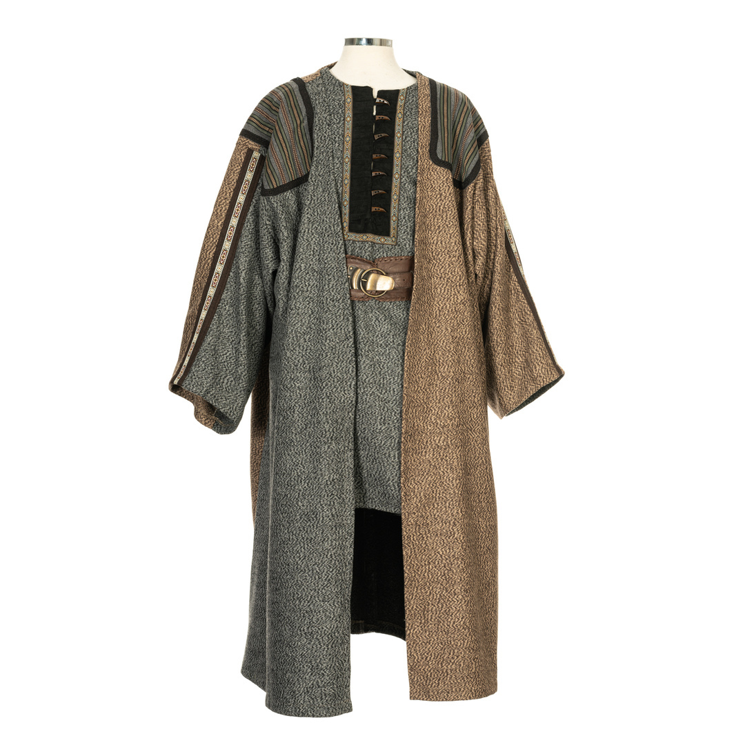 Robe in Two Tones - Grey and Brown